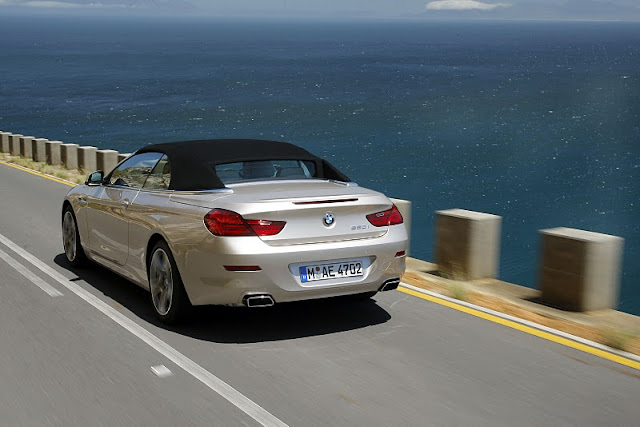 2012 bmw 6 series convertible rear angle view 2012 BMW 6 Series Convertible
