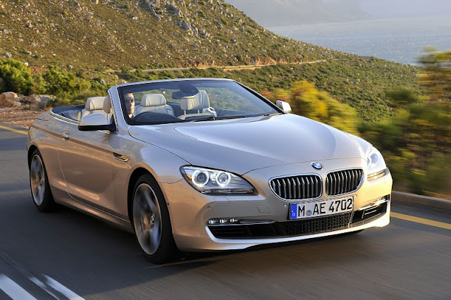 2012 bmw 6 series convertible front angle view 2012 BMW 6 Series Convertible