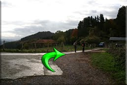Pista cementada cerca del caserío Zabaldu