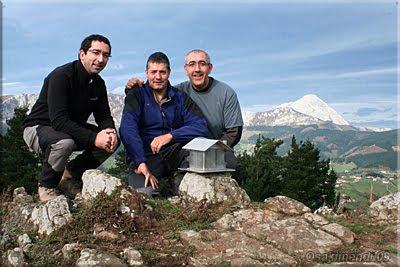 Asensio mendi mendiaren gailurra 681 m. - 2009ko azaroaren 15ean