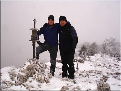 Arburu mendiaren gailurra 1.045 m. - 2010eko otsailaren 14an