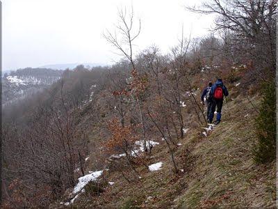 Sin nieve el sendero es ''más'' visible