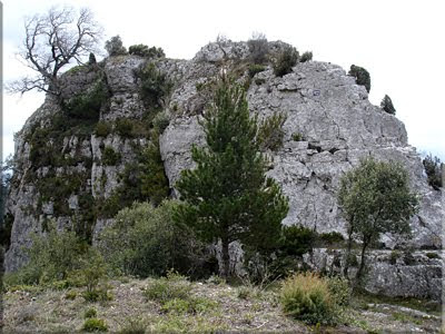 Peña la Rosa, muy cerca de las ruinas