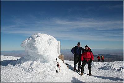 Moncayo mendiaren gailurra 2.315 m. - 2008ko abenduaren 21ean