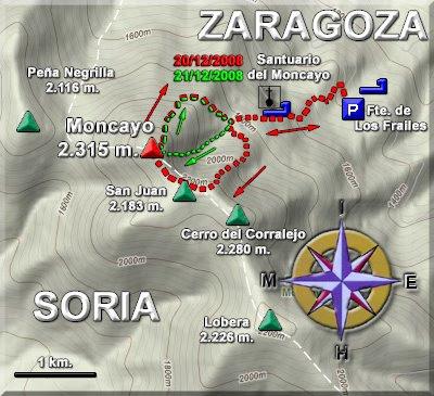 Plano de las rutas