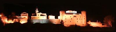Vista Nocturna del Castillo de Puebla de Sanabria