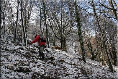 Bonito ascenso con nieve