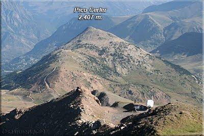 Pico Cerler desde la cima la Tuca Gallinero