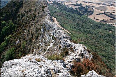 Vista del paso de la cresta ya recorrido