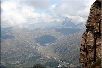 Midi d'Ossau durante el descenso