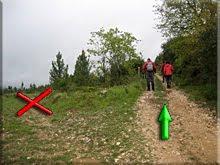 Bifurcación, pista de la derecha