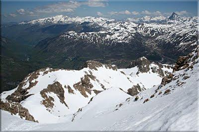 Vista del Valle de Aspe desde la Brecha Superior