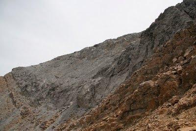 Vista de la cima desde el collado