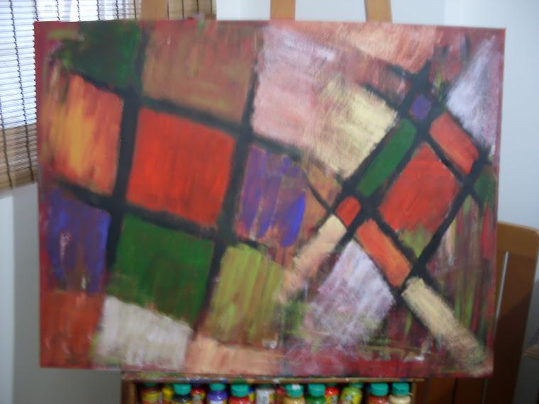 Abstrato Cores em Xadrez
