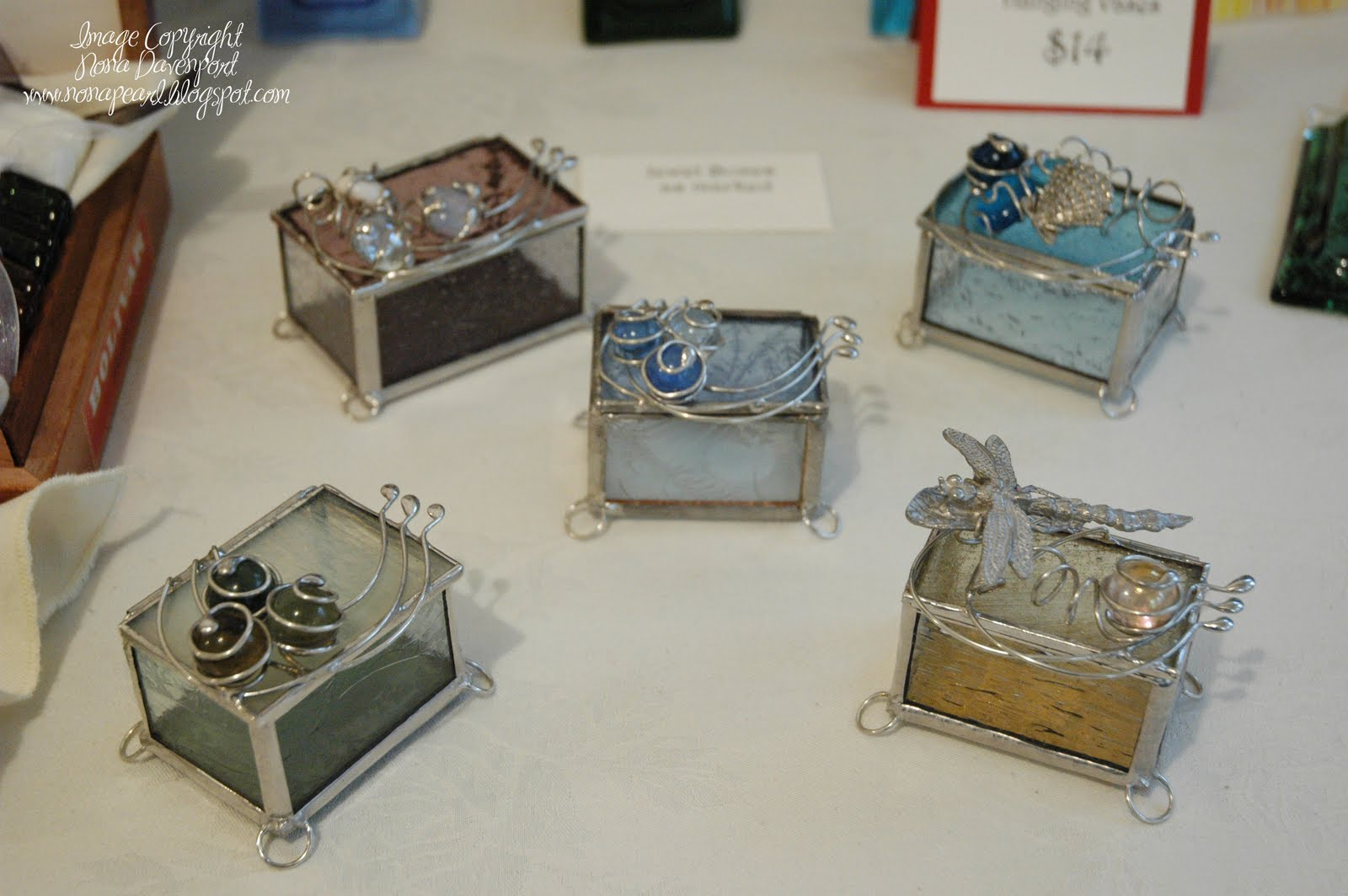 Nona 39 s pearls of wisdom craft fair tomorrow for Glass boxes for crafts