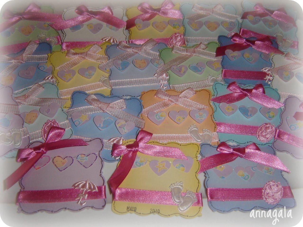 Estos son los corsages para las participantes en el BBy Shower :)