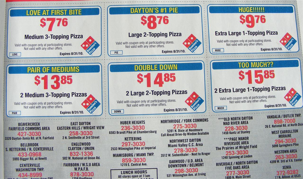 Coupon code dominos