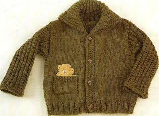 Patrones de Tejido Gratis - Suéter verde para un niño