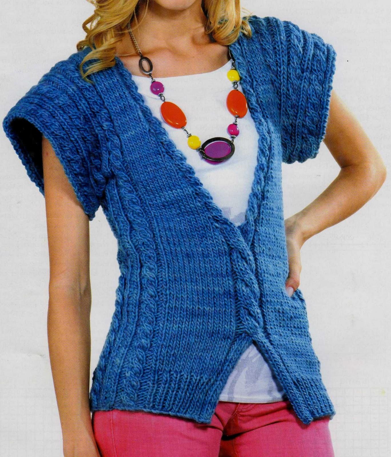 Patrones De Chalecos Tejidos a Crochet Gratis