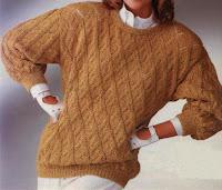 Pullover im Lochrautenmuster