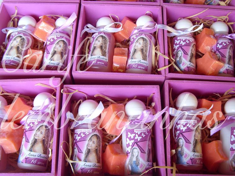 15 Anos   Foto   Kit Caixa Mdf   Produtos De Banho  Rosa E Pink