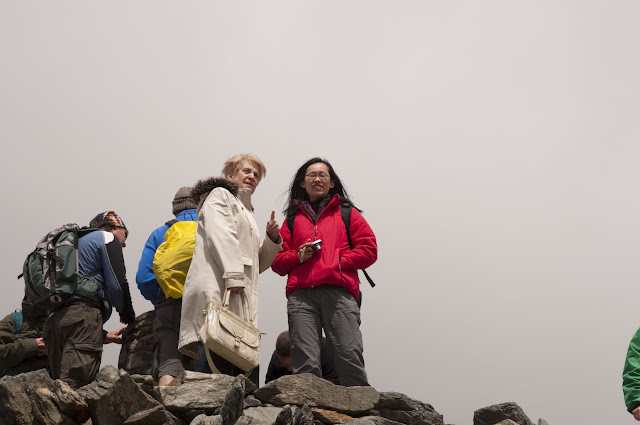 Travel, attractions, united kingdom, Snowdon, summit, people