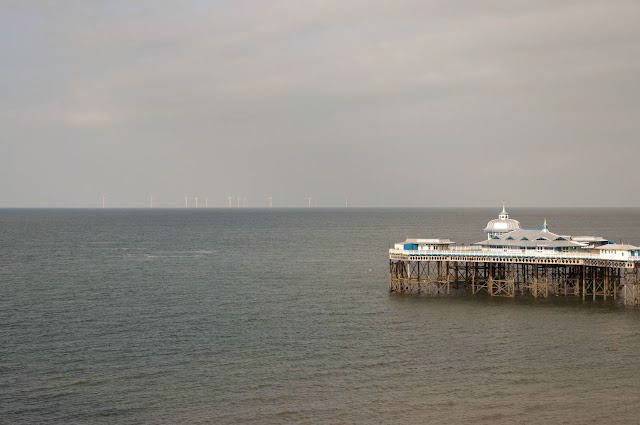 Travel, attractions, united kingdom, llandudno, Pier, wind farm
