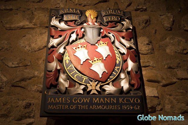 armoury crest in Tower of London