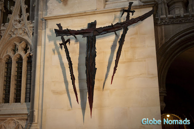 sculpture of martyrdom in canterbury cathedral