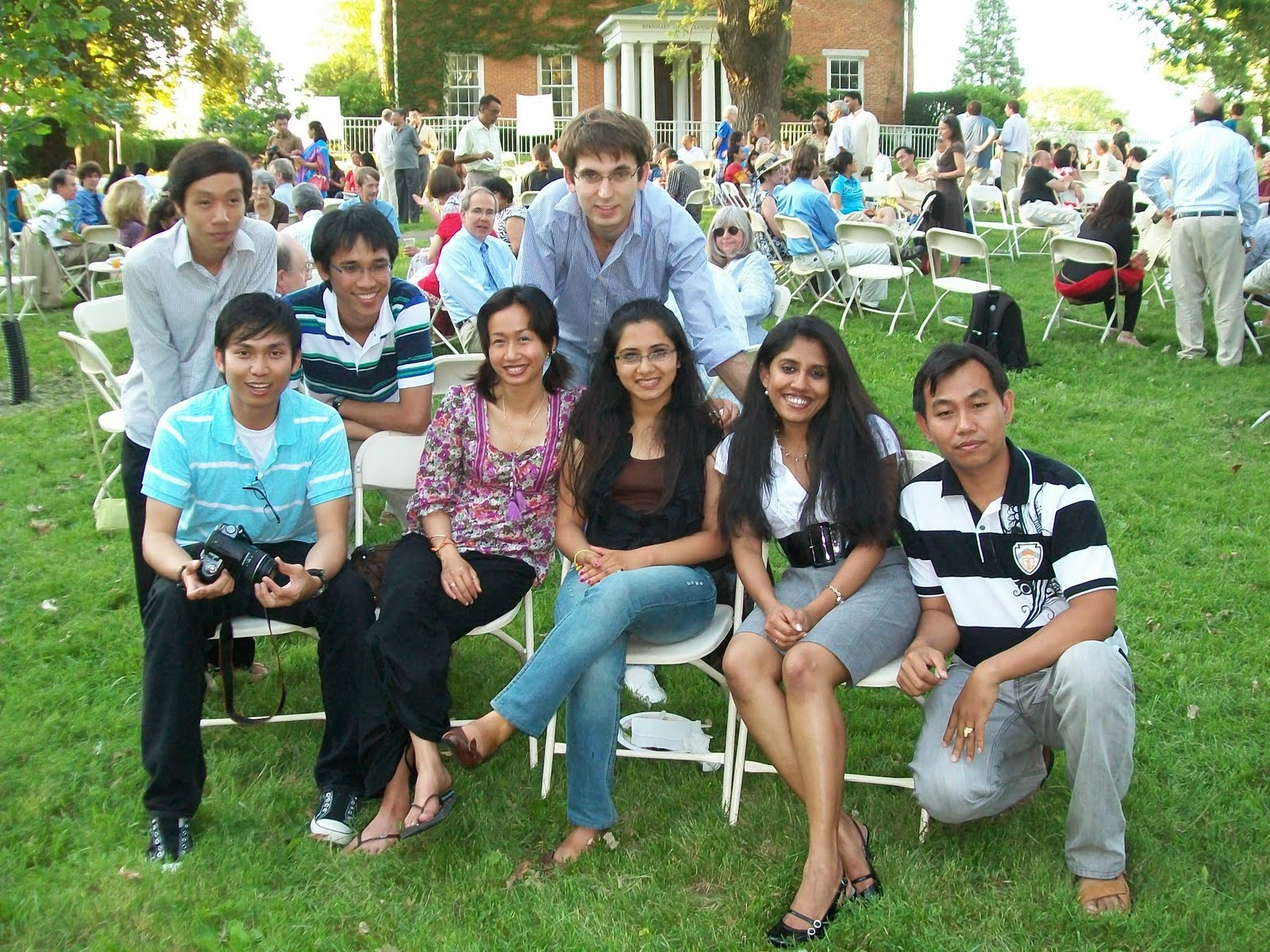 Students at Graduation dinner