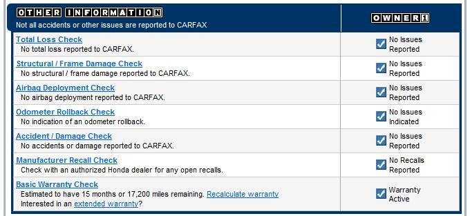 Free CARFAX report for this CRV page 3