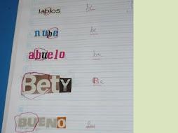 Recortan palabras, encierran y escriben el sonido inicial, intermedio o final