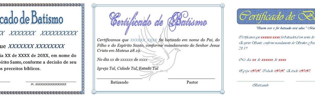 Arsenal Do Crente Certificado De Batismo Para Download