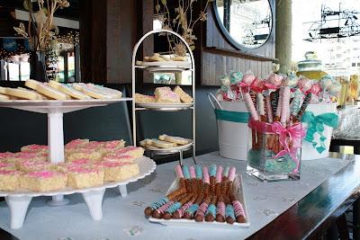bridal shower mini dessert bar