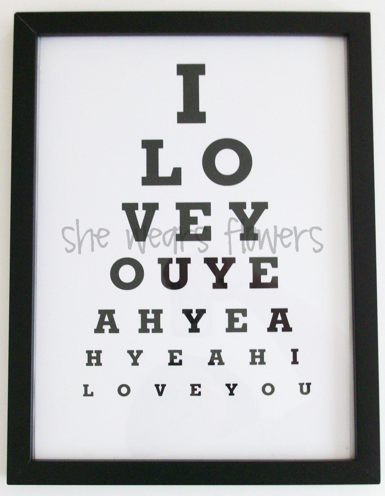 Buns In A Row Eye Chart Art