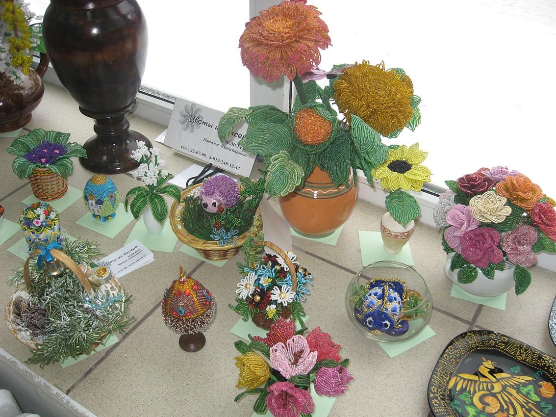 Цветы из бисера мастер класс натальи