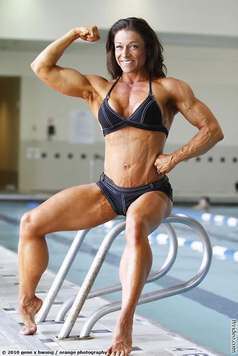Phoenix World Female bodybuilders with Great Six packs Abs images