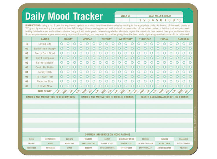 Sly image inside mood tracker printable