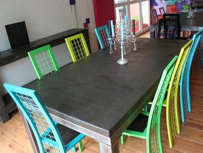 Table beton com table de salle manger b ton for Table salle a manger beton cire