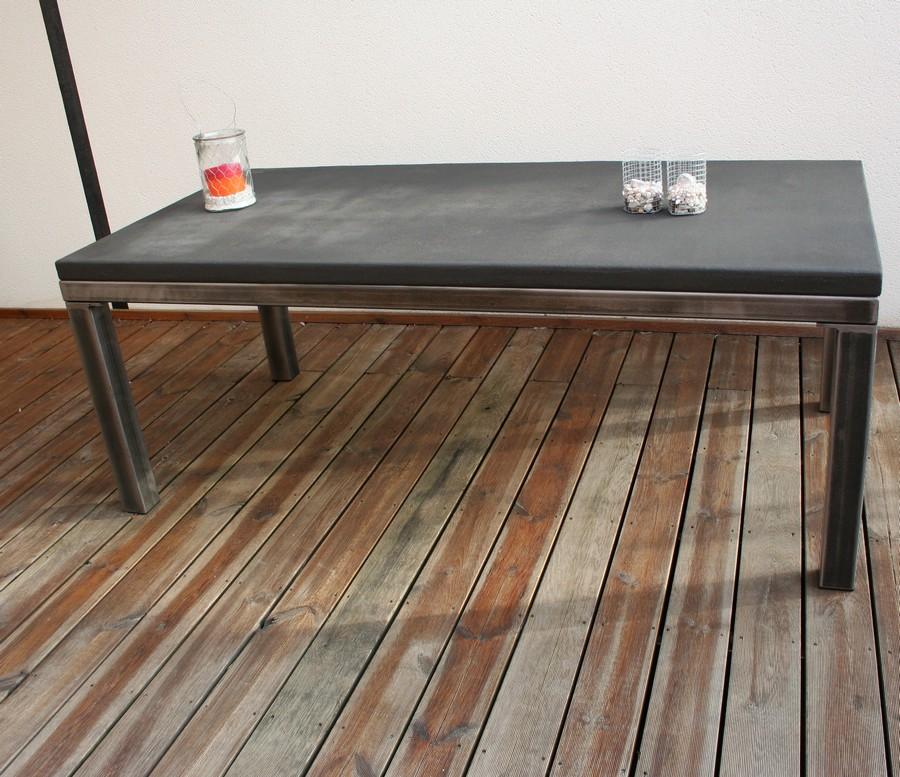 Table beton com table de salle manger b ton - Table a manger beton ...