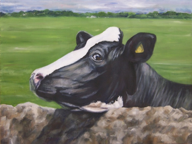 holstein dairy cow. Oil Holstein Dairy Cow Pet Art