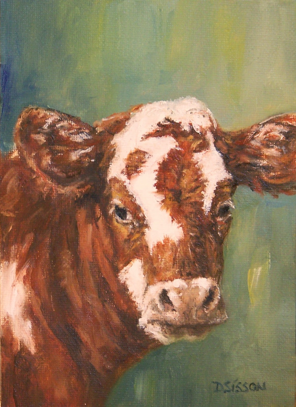 Farm animals painting