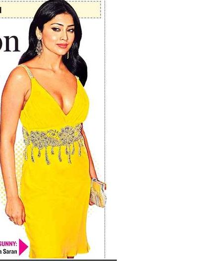 , Shriya Saran in Yellow Dress at IIFA Awards 2008