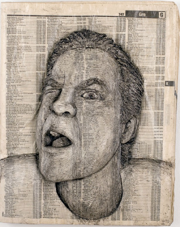 Amazing Celebrity Phone Book Carving Art GolberzCom - Unbelievable portraits carved phone books