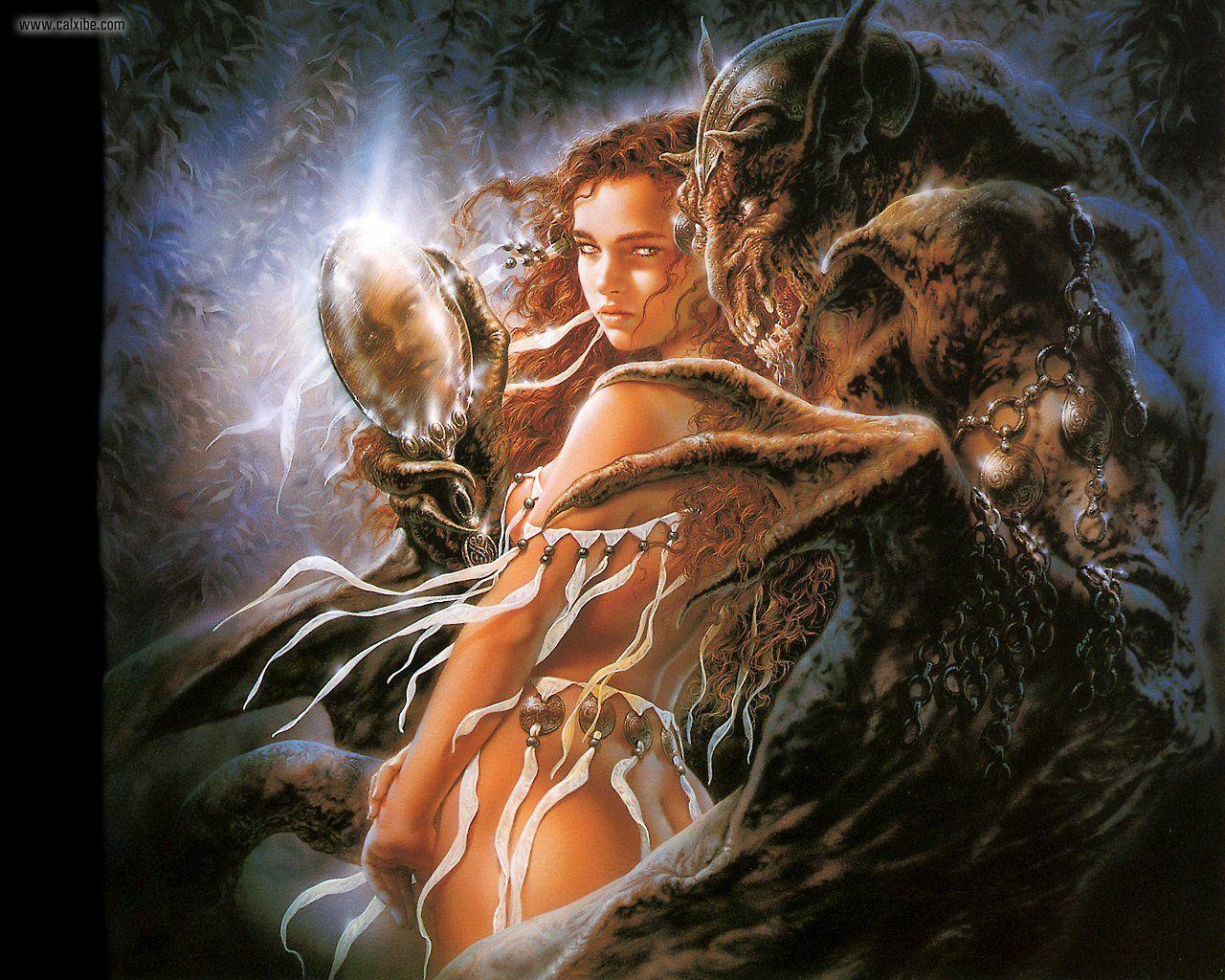 Чудовище ебет красотку, Красавица ебется с чудовищем и кончает 2 фотография
