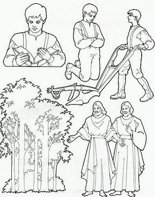 Sunshine happiness activity days joseph smith 39 s first for First vision coloring page