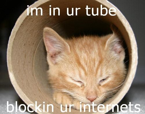 im in ur tube, blockin ur internets by the boy on the bike from flickr (CC-NC-SA)