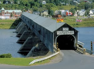 Hartland covered bridge in New Brunswick