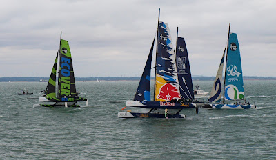 Extreme 40 catamarans racing at Cowes