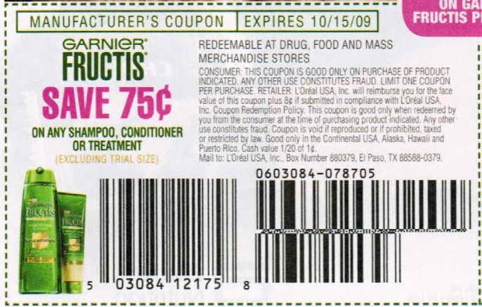 Fructis coupons printable